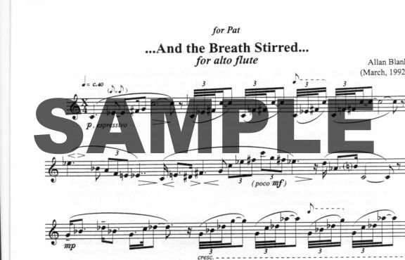 ...And the Breath Stirred... - Flute Music Sheet