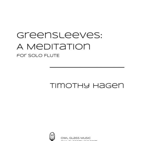 Greensleeves Music Sheet Cover