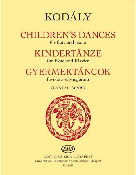 Koday Children's Dances cover for flute and piano